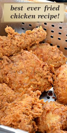 best ever fried chicken recipe! - Best easy cooking - Best easy cooking - best ever fried chicken recipe! Best Fried Chicken Recipe, Fried Chicken Legs, Spicy Fried Chicken, Crispy Chicken Recipes, Fried Chicken Breast, Chicken Drumstick Recipes, Fried Chicken Thigh Recipes, Fried Chicken Drumsticks, How To Fry Chicken