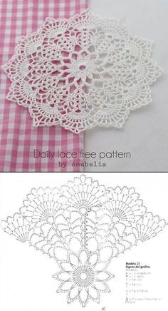 Most current Totally Free Crochet Flowers doily Suggestions Beautiful Crochet Doily♥ Deniz Free Crochet Doily Patterns, Crochet Doily Diagram, Crochet Motifs, Crochet Mandala, Thread Crochet, Filet Crochet, Crochet Designs, Free Pattern, Crochet Books