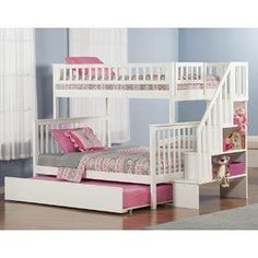 The Shyann bunk bed features beautifully detailed matching guard rails and end panels. Constructed using sturdy hardwood.