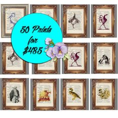 SPECIAL 50 PRINT Sale  Mix & Match Prints  Wedding by CocoPuffsArt