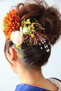 <3 Kimono hair style