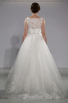 Maggie Sottero - Bridal Fall 2013    TAGS:Embroidered, Floor-length, White, Maggie Sottero, Lace, Tulle, Glamour