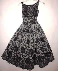 Stunning Vintage 1950s Betty Carol Mam'selle Dress