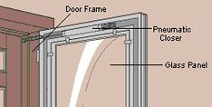 Expert advice on how to fix common storm door problems. Includes step-by-step DIY advice for fixing a storm door closer. Best Storm Doors, Storm Door Closer, Glass Storm Doors, Glass Door, Screen Door Repair, Glass Repair, Diy Home Repair, Closed Doors, Glass Panels