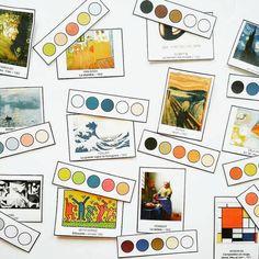 Mondrian, Monet, Palette, Ecole Art, 3 Arts, Craft Activities For Kids, Art Plastique, Art For Kids, Gallery Wall