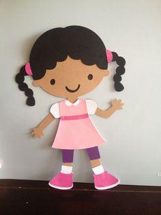 "Cricut Create A Friend 10"" School Girl Locker Magnet"