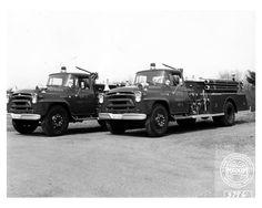 1957 International Maxim Fire Truck Photo Poster Newark zca1469