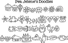 Simple Doodle Ideas | ... fun art (with some cute ideas on how to use her doodles!) @ jelene.com