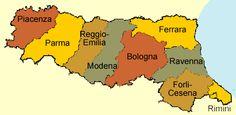 "[Map] ""9 provinces of #Emilia–Romagna Wine region in Italy"" by Wineweb.com. Most famous wine of Emilia is surely the Lambrusco.  9 Wine provinces of Emilia-Romagna are: Bologna, Ferrara, Forli-Cesena , Modena, Parma, Piacenza, Ravenna and Reggio-Emilia."