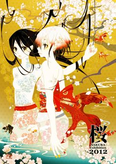 "SAKURA Exhibition 2012 Main Visual.  ""Reincarnation""  by ~funarium on deviantART"