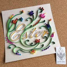 Nome Ester em Quilling - Tipografia - Decoração - Decor - Cores - Quarto Bebê - Maternidade