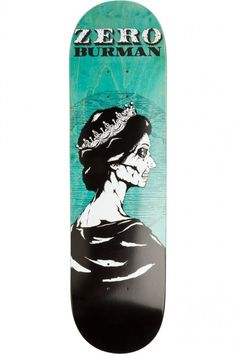Burman Dead Presidents Skateboard Deck by Zero