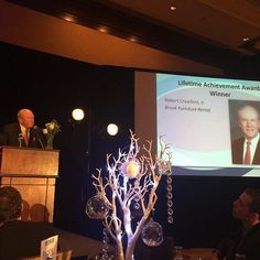 Congratulations to Brook Furniture Rental's founder, Bob Crawford Sr, for being honored and recognized with the Lifetime Achievement Award for over 35 years of success in the industry! #brookfurniturerental  #bfrCEO  #chpa2016 #chpa