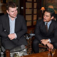 Matt Weston & David Gandy at The Style for Soldiers Summer Dinner Party at Spencer House last week #davidgandy