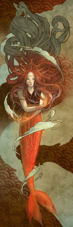 ♒ Mermaids Among Us ♒ art photography paintings of sea sirens & water maidens - War Siren by ~aerobicsalmon