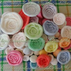 Different Designs and siZes Silicone Rose molds  Available at https://www.facebook.com/StylishFloralArt