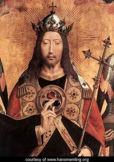 Christ Surrounded by Musician Angels (detail) 1480s - Hans Memling - www.hansmemling.org