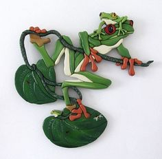 """""""FROG LAND"""" HAND PAINTED INTARSIA - by Gina Stern from FROG LAND"""