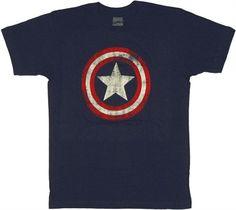 Captain America Vintage Logo T Shirt