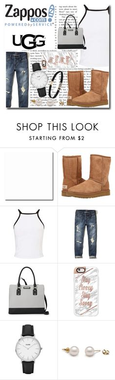 """""""The Icon Perfected: UGG Classic II Contest Entry"""" by emmy-124fashions ❤ liked on Polyvore featuring UGG Australia, Miss Selfridge, Hollister Co., Nine West, Casetify, CLUSE, ugg and contestentry"""