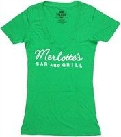 True Blood Merlotte's Bar and Grill Logo Green Baby Doll Tee by Stylin Online - Teenormous.com