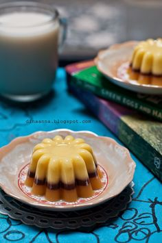 Pudding Desserts, Moon Cake, Jelly, Panna Cotta, Waffles, Deserts, Food And Drink, Agar, Homemade