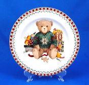 Debbie Mumm Sakura Christmas Bears Salad Plate Set