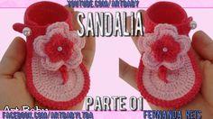 Sandalia de Croche Parte 1 - Professora Fernanda Reis