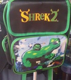 Shrek really bulked up for the second movie:   25 Bootleg Products That Are Better Than The Real Thing