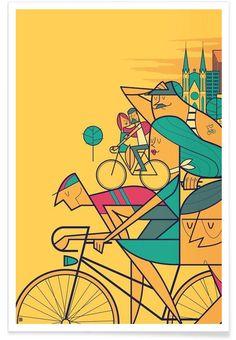 PEDALAR als Premium Poster von Ale Giorgini | JUNIQE