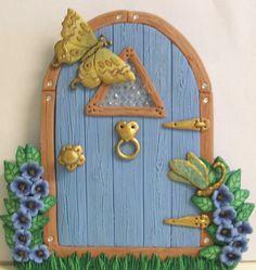 Blue Fairy Door by PatsParaphernalia, via Flickr