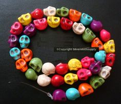 x each hole top to bottom. Semi Precious Beads, Human Skull, Beaded Skull, Stone, Detail, Ebay, Colors, Link, Accessories
