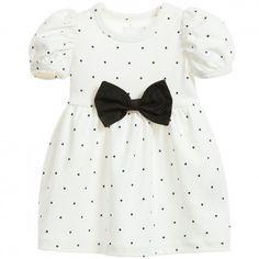 Ivory Jersey 'Tiny Small Dot' Dress