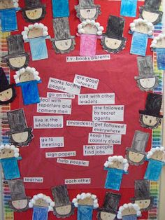 Chalk Talk: A Kindergarten Blog: President's Day - cute Washington and Lincoln portraits!