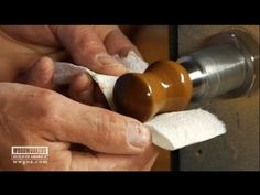 Super Finishing for Turning George Vondriska demonstrates the best way to apply a simple finishing mixture to a bottle stopper that is durable and will give the piece a proper shine. While the stopper is still on your lathe, you can dab on light layers of thin-viscosity CA wood glue and linseed oil. http://www.wwgoa.com/video/super-wood-finishing-for-turning-001111/?utm_source=pinterest&utm_medium=organic&utm_campaign=A217 #WWGOA