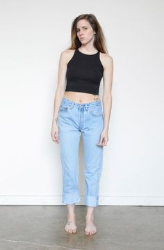 LEVI'S High Waist Boyfriend Jeans Denim by shopfuture on Etsy