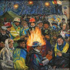 Artist: we should have not sung on Maidan for so long |   2014/11/18 • Culture |   Article by: Yana Polyanska |   Artist Maryna Sochenko can recite the entire history of the events of the Revolution of Dignity. She was on Maidan with her sketchbook since the first day: she drew the Viche, the tents, portraits of activists. She plans to show her collection to Ukraine on November 21, the anniversary of the revolution. The year following the events, she says, changed her as a person, changed