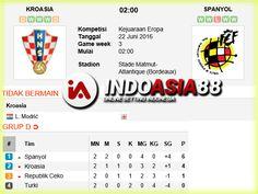 Prediksi Skor Kroasia vs Spanyol 22 Juni 2016 Piala Eropa di Stade Matmut-Atlantique (Bordeaux) pada hari Rabu jam 02:00 WIB live di RCTI