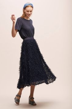 Davida Textured-Maxi Skirt | Anthropologie UK