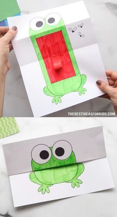 Science Activities For Kids, Summer Activities, Book Activities, Easy Crafts For Kids, Toddler Crafts, Frog Template, Pom Dog, 2nd Grade Math Worksheets, Toot