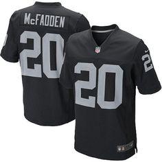 New Nike Raiders 20 Darren McFadden Nike Elite Jersey Black Team Color NFL  Jersey Football Uniforms 412bf8784
