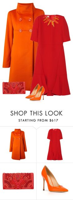 """""""women's red and orange"""" by bodangela ❤ liked on Polyvore featuring MaxMara, Marni, Balmain, Sergio Rossi, women's clothing, women, female, woman, misses and juniors"""