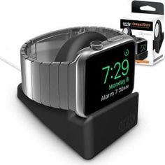 Orzly Compact Stand for Apple Watch - Nightstand Mode Compatible - BLACK Support Stand with integrated Cable Management Slot & compatible) Apple Watch 2 Tips, Best Apple Watch, Apple Watch Iphone, Apple Watch Series 2, Gadget, Compact, Cell Phone Accessories, Watch Accessories, Smart Watch