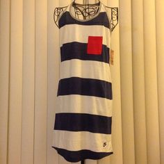 Free shipping until end of cyber Monday!  NWT -Super Cute Nike Sportswear Racerback Dress. Size Medium. Could be worn as coverup over bathing suit, to the gym, with shorts or by itself with cute tennis shoes. Set price. Brand new with tags. Nike Dresses