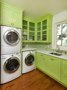 10 Chic Laundry Room Decorating Ideas | Interior Design Styles and Color Schemes for Home Decorating | HGTV