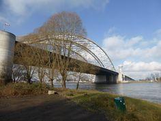 De Brienenoordbrug vanaf het Eiland van Brienenoord, Rotterdam