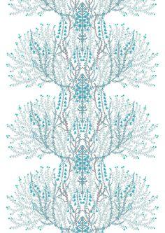 Varvikko, turquoise, design By Tanja Orsjoki