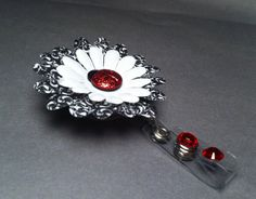 Glittered Ladybug Retractable Badge Holder by UniqueCreationsByMe, $9.95
