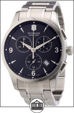 Victorinox Swiss Army - Reloj cronógrafo de cuarzo para hombre con correa de acero inoxidable, color plateado de  ✿ Relojes para hombre - (Gama media/alta) ✿