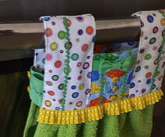 Oven Door Kitchen Towel 17 inches 43cm long front and back